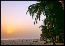 Assinie plaży z kości słoniowej wybrzeże obraz royalty free