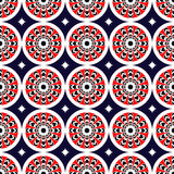 assiria kwitnie czerwień bezszwową Zdjęcia Stock