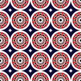 assiriaen blommar rött seamless Arkivfoton