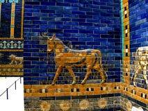 Assirian mozaic. Pergamon Museum in Berlin Royalty Free Stock Photography