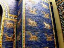 Assirian wall. In  Pergamon Museum in Berlin Royalty Free Stock Image