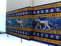 Assirian walls in  Pergamon Museum in Berlin Stock Photo
