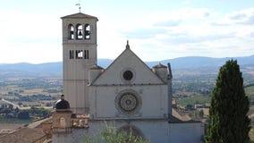 assisi意大利 大教堂和圣法兰西斯神圣的女修道院  影视素材