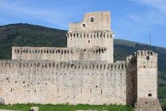 Assisi的专业堡垒 免版税库存照片