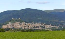Assisi,意大利地平线 免版税库存照片