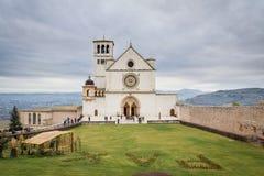 Assisi,翁布里亚,意大利 2017年12月30日 免版税库存照片