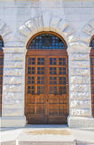 assisi άνθρωποι πυίδα Ουμβρία παλατιών κυβερνήτη Ιταλία ξύλινη Στοκ εικόνες με δικαίωμα ελεύθερης χρήσης