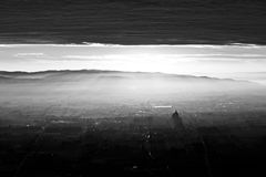 Assisi, σύννεφα και ακτίνες ήλιων Στοκ Εικόνες