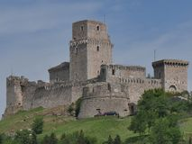 Assisi - крепость стоковое фото rf
