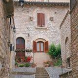 Assisi, маленький город Умбрии Стоковые Изображения