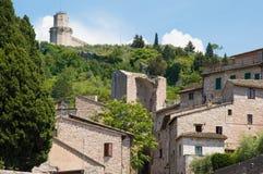 Assisi Умбрия Италия стоковые изображения rf