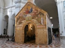 Assisi - церковь St Mary ангелов стоковое фото
