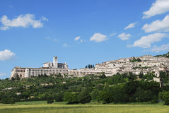 Assisi. Panoramic view of Assisi with the Basilica of Saint Francis (Italy Stock Photos