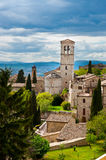Assisi. Bird's Eye View to Historic Center City of Assisi, Italy stock photos