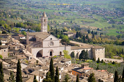 Assisi basilica av Saint-klar 1 Arkivbild
