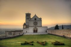 assisi basilica d di francesco ・ s 库存图片