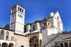 Assisi, the Basilica of San Francesco Stock Photo