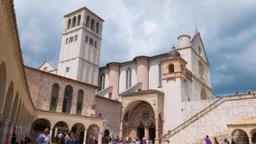 Assisi Basilica timelapse, Umbria, Italy.  stock footage