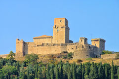 Assisi castle stock photography