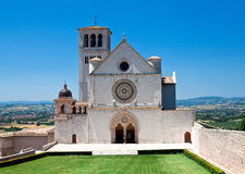 Assisi cathedral. Basilica di san francesco d' assisi stock photography