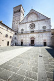 Assisi Cathedral San Rufino. Italy church Stock Photography