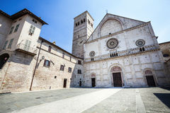 Assisi Cathedral San Rufino. Italy church  Royalty Free Stock Photos