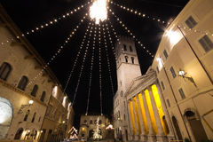 Assisi at christmas time Royalty Free Stock Photos