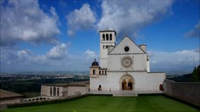 Assisi church stock footage
