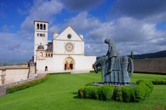 Assisi church Royalty Free Stock Images