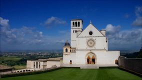 Assisi church stock video footage