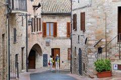 Assisi, cidade pequena de Úmbria fotos de stock royalty free