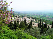 Assisi da paisagem Imagens de Stock