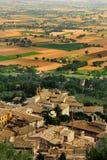 Assisi de arriba fotografía de archivo libre de regalías