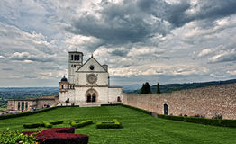 Assisi dome Italian Basilica of saint francis Royalty Free Stock Photo
