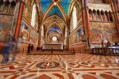 Assisi Dome Saint Francis Church interior Royalty Free Stock Image