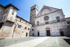 Assisi domkyrka San Rufino Italien kyrka Royaltyfria Foton