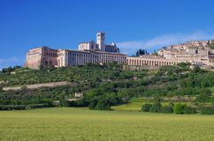 Assisi. Famous church in Italy royalty free stock photography