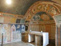 Assisi - fristadSt Damiano arkivbilder