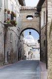 Assisi, historisch centrum royalty-vrije stock foto