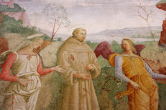 Assisi, Italië, Cappela van roseto Stock Foto's