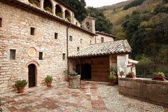 Assisi, Italië, Kluis van St Francis van Assisi, vrede en goed Royalty-vrije Stock Foto's