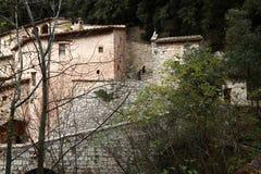Assisi, Italië, Kluis van St Francis van Assisi, vrede en goed Royalty-vrije Stock Afbeeldingen