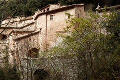 Assisi, Italië, Kluis van St Francis van Assisi, vrede en goed Royalty-vrije Stock Foto