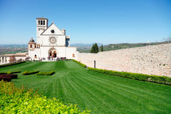 Assisi, Italy. Church of St. Francis in Assisi stock photo
