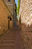 Assisi, Italy. Beautiful lane in Assisi, Italy from Middle Ages stock photos
