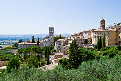 Assisi, Italy. Landscape view of Assisi, town from from Middle Ages, Italy stock photos