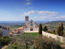 Assisi - Italy. The Basilica of San Francesco in Assisi, Italy is a World Heritage Site and one of the most important places of Christian pilgrimage in Italy royalty free stock photography
