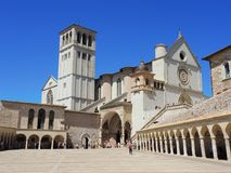 Assisi, Italy. The Basilica and the Sacred Convent of Saint Francis Stock Photos