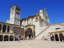 Assisi, Italy. The Basilica and the Sacred Convent of Saint Francis Stock Photo