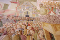 Assisi, Italy, Cappela of the roseto. Assisi, Italy, Cappela of the roseto, frescos of Tiberio in Assisi, Basilica of S. Maria of the Angels Royalty Free Stock Photo